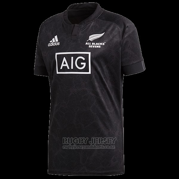 d1f25e23e89 New Zealand All Blacks 7s Rugby Jersey 2018 Home   www ...